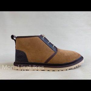 New UGG Neumel Sheepskin Fur Suede Chukka Boots